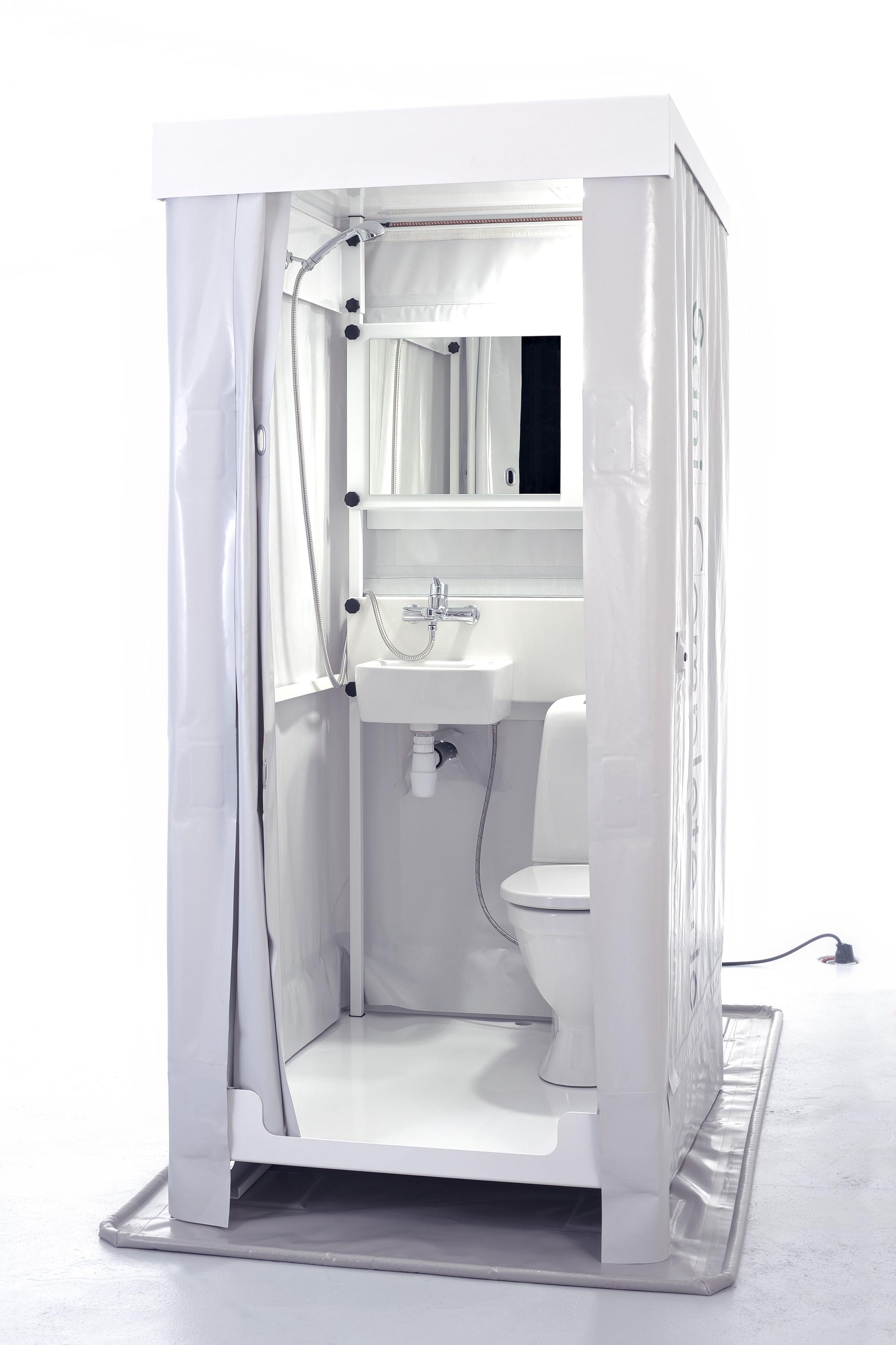 Mobiles Indoor Bad Mobiles Badezimmer Deutschlandweite Vermietung Sanicomplete